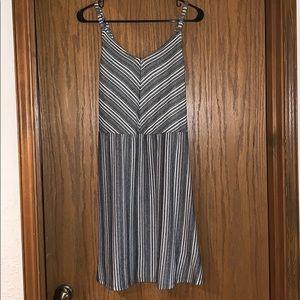 Cute B&W Striped Dress Size M